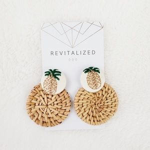 Revitalized 》Pineapple Rattan Earrings